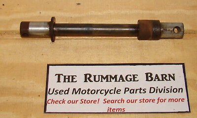 original FRONT WHEEL AXLE with SPACER -------- 1970 HONDA CL350 Motorcycle