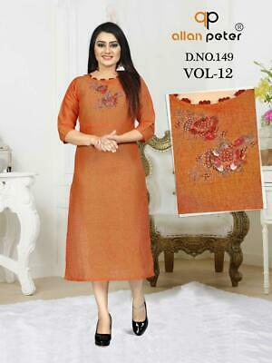 Indian Pakistani Kurta Tunics For Women Party Wear Ethnic Knee Length Apparel