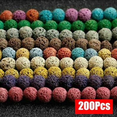 Natural Lava Stone Volcano Round Loose Spacer Beads 8mm Jewelry Making Wholesale