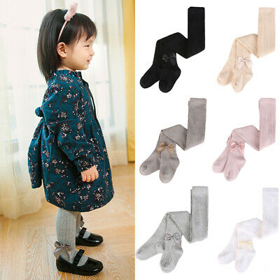 Kids Children Girls Cute Bow Tights Toddler Baby Soft Comfortable Pantyhose