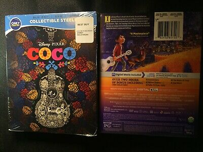 Coco Blu-ray SteelBook Only at Best Buy Exclusive Brand NEW Factory Sealed OOP
