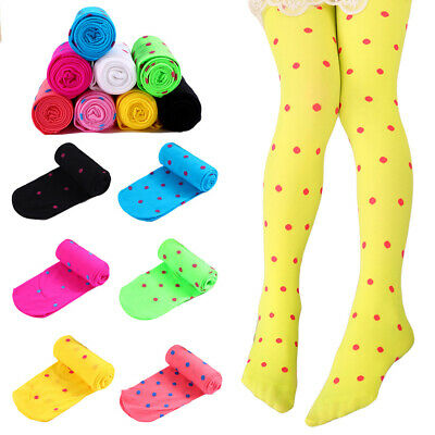Children Kids Soft Comfortable Elastic Pantyhose Girls Cute Polka Dots Tights