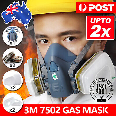 7502 7 Piece Suit Half Face Respirator Painting Spraying Face Dust Gas Mask 3M