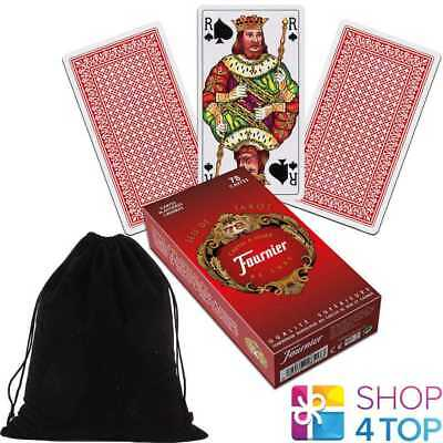 French Tarot Deck Fournier 78 Playing Cards Red Jeu De With Velvet Bag New