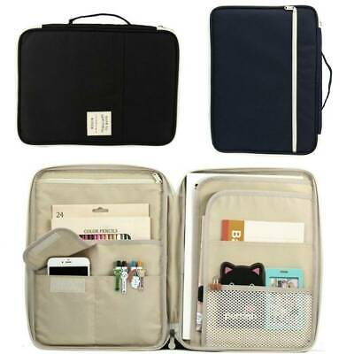 A4 Zip Conference Folder Business Document Case Bag File Organiser Portfolio AU