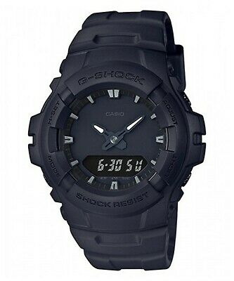 Casio G-Shock G-100BB-1A Analog Digital Matte Black Mens Watch 200M WR G-100 New