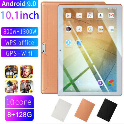 "10.1"" Tablet PC HD Android 9.0 8G +128GB 10-Core WIFI Dual Camera bluetooth  GPS"