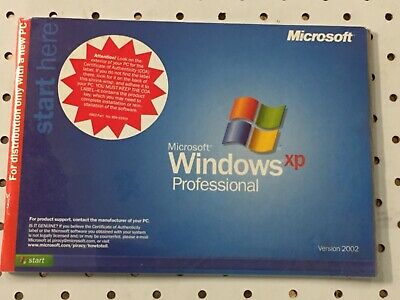 Microsoft Windows XP Professional with Product Key Version 2002
