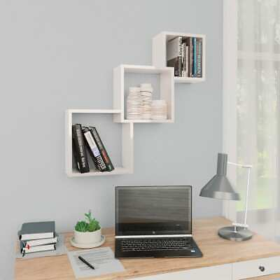 Wooden Cube Wall Shelves Floating Boxes Storage Shelving Display DVD Book Holder