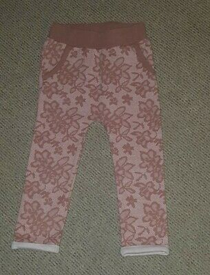 Light Brown Lace Pattern Trousers Girls 2yrs