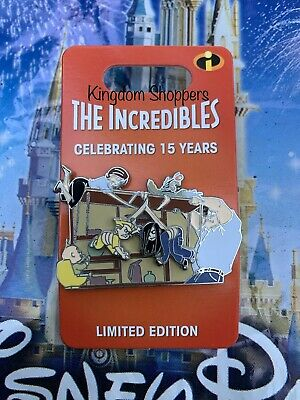 Disney Parks The Incredibles 15th Anniversary Dinner Table Scene Pin LE3000