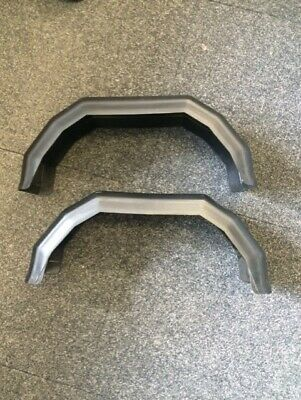 """A pair of 8 inch plastic trailer mudguards suitable for 8"""" wheel rims MP265"""