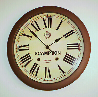 Royal Air Force Style, RAF Scampton, Souvenir Vintage Style Wall Clock.
