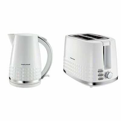 Morphy Richards Dimensions 2-Slice Toaster and Jug Kettle Set in White
