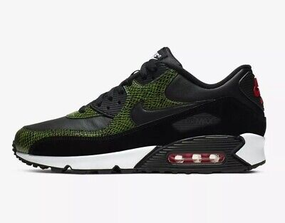 "NIKE AIR MAX 90 QS ""Green Python"" Mens Trainers Multiple"