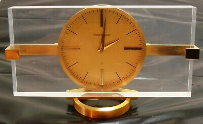Vintage Jaeger LeCoultre Rectangular Table Clock 8 Days Power Reserve EXC++