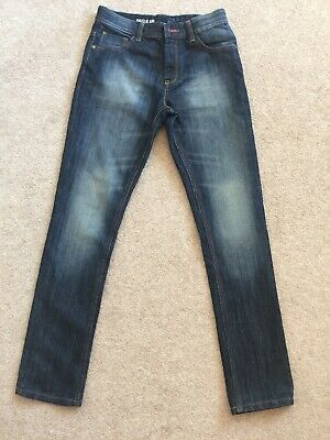 Boys NEXT Jeans Age 12 Years Denim Dark Blue Regular