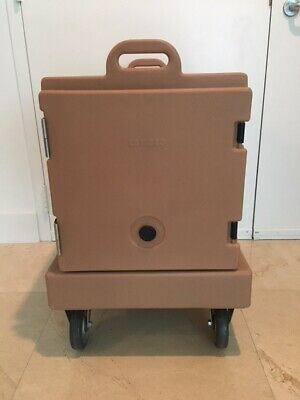 Cambro 300MPC131 Food Carrier Rolling Front Load Camcarrier W/ Dolly & Pans