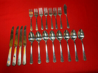 Oneida LTD Simeon L George H Rogers Company Viking Silverplate 20 Pieces