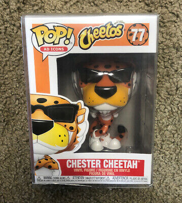 FUNKO POP! AD ICONS: Cheetos Chester Cheetah #77 IN HAND! +PROTECTOR **MINT**