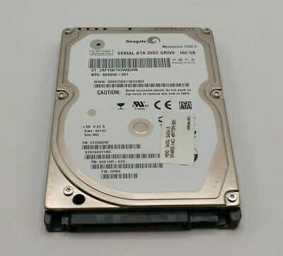 "Dell Seagate 2.5/"" 160GB 7.2k 16M 3Gbps SATA Desktop Hard Drive ST9160412AS"