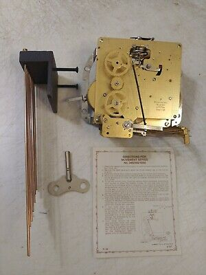 Franz Hermle Westminster Chimes Mantle Clock  Movement & Chimes & Key
