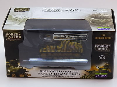 Forces of Valor 85096 Self-Propelled Howitzer Wespe Die-Cast 1:72 NEU OVP