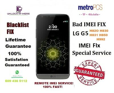 LG G5 blocked imei Repair G5 LS992 H850 H831 H820 H830 all . TMOBILE