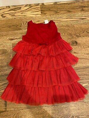 Old Navy Red Christmas Holiday Dress 3T