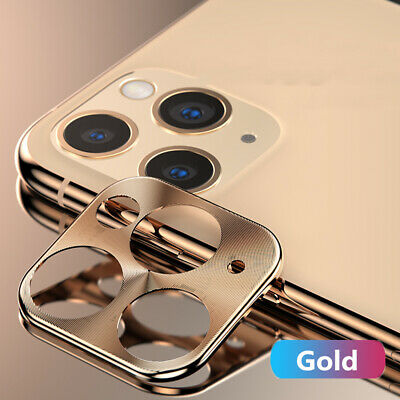 For iPhone 11 Pro Max 2Pack Plating Full Cover Metal Camera Lens Protector Case