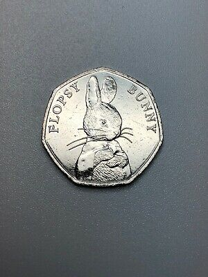 Flopsy Bunny  Beatrix Potter 2018 UK 50p UN From Sealed Bag Rare Low Mintage