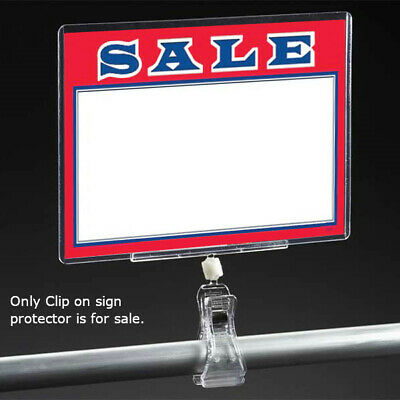 Plastic Clip On Sign Holder for 7 W x 5 H Inches Signs