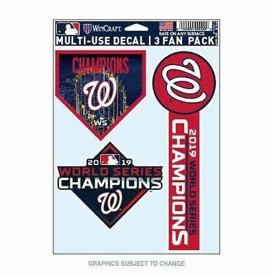 Washington Nationals 2019 World Series Champs 3 Piece Multi-Use Decal Fan Pack