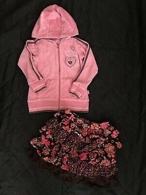 Pumpkin Patch and Sugar Pink Hoodie & Skirt Outfit ~ Age 5-6 Years