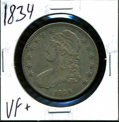1834 50C Capped Bust Half Dollar in VF+ Condition COIN#13