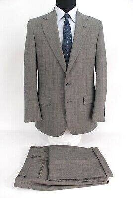 Polo University Club by Ralph Lauren Gray Birdseye Wool Suit 38R