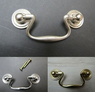 SMALL SWAN NECK - vintage retro cabinet cupboard drawer pull handle