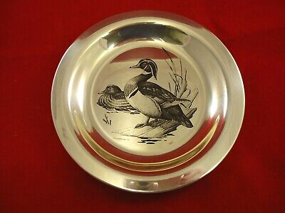 Plate made of Sterling Silver w/ Wood Ducks by National Audubon Society