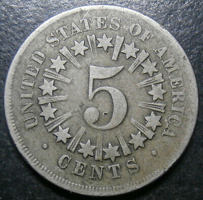 USA - 5 cents 1866 - shield nickel