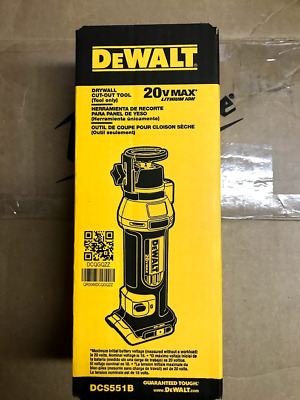 DEWALT DCS551B 20-Volt MAX Lithium-Ion Cordless Drywall Cut-Out Tool (Tool-Only)