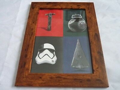 Framed mounted original print A4 star wars last jedi empire double sided print