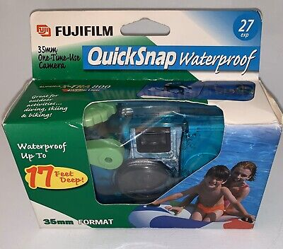 Fujifilm QuickSnap Waterproof 35mm Single Use Film Camera New With 27 Exp