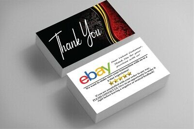 100 Full Color Business Cards | Ebay Sellers Thank You | Classy | Free Shipping