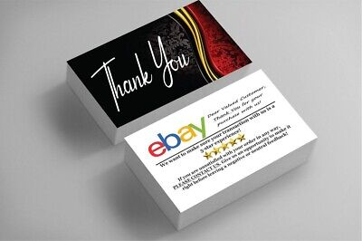 500 Full Color Business Cards | Ebay Sellers Thank You | Classy | Free Shipping