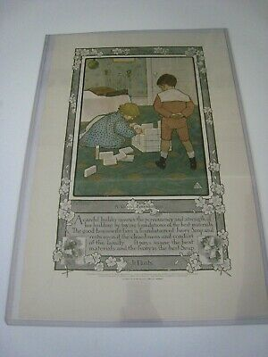 Early 1900s Vintage ADVERTISING Poster -  ...'' IVORY SOAP  ''