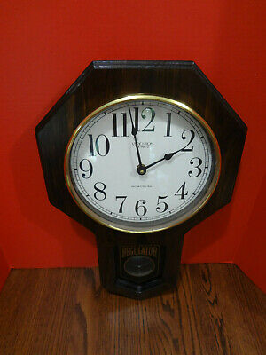 Vintage VERICHRON QUARTZ REGULATOR Clock w Westminser Chime VGC Works ~FAST S/H~