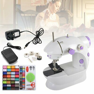 2 Speed Sewing Machine Portable Battery Mains Powered LED Light Sewing Tool Gift