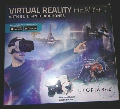 Virtual Reality Headset with Built-in Headphones  Utopia 360-Degree Pro New