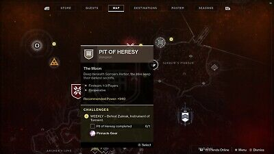 Destiny 2 / PIT OF HERESY / DUNGEON Completion / Shadowkeep / PS4