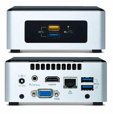 Intel NUC mini PC Pentium N3700 QC 2.4GHz DDR3L 2.5' HDD M.2 PCIe SSD Support Wi